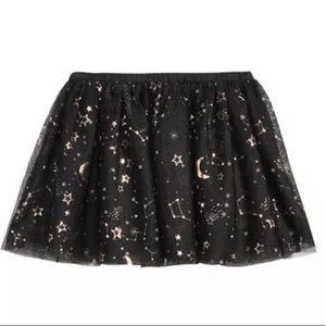 Galaxy print skirt